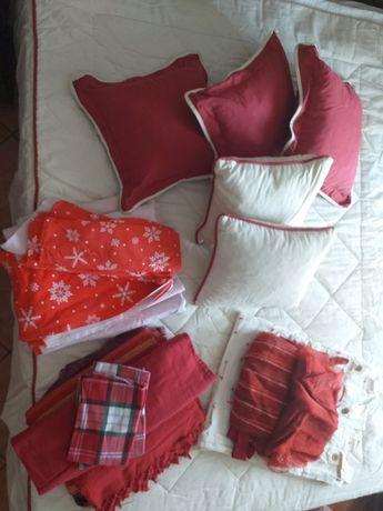 Colcha ,almofadas,lencois flanela,fronhas