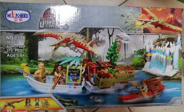 Конструктор 1378 аналог Lego Jurassic World Динозавры
