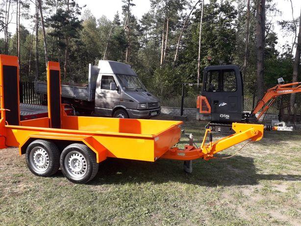 Przyczepa firmy Obermaier 2500dmc do przewozu maszyn budowlanych