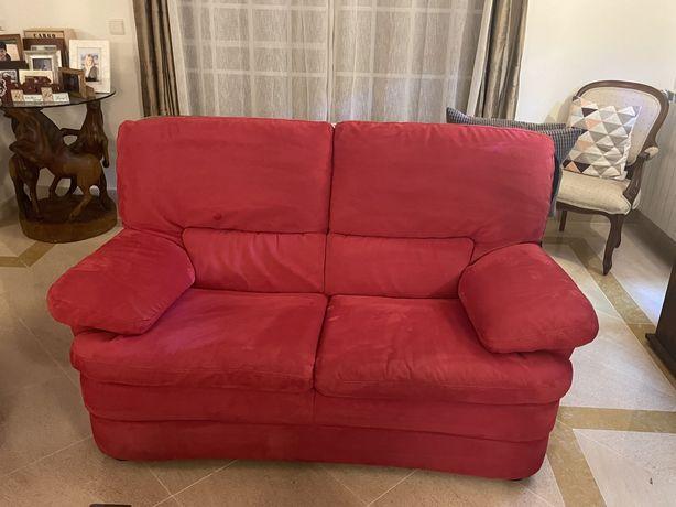 2 sofas de 3 lugares cada e um sofa reclinavel