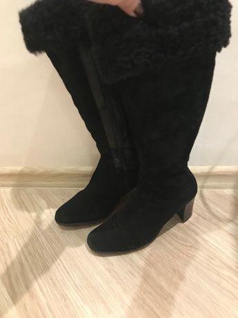 Сапоги замш) сапоги зимнии) ботинки) сапоги 37р