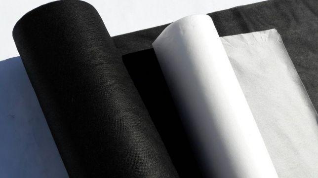 Agrowłóknina czarna i biała