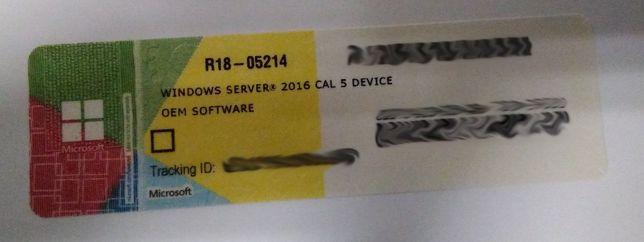 Windows Server CAL 2016 PT 5 Clt Device CAL - NOVO