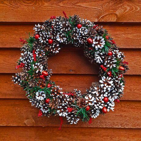 Wieniec na drzwi, stroik świąteczny