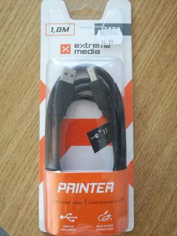Kabel USB do drukarki na gwarancji, złote końcówki kabla