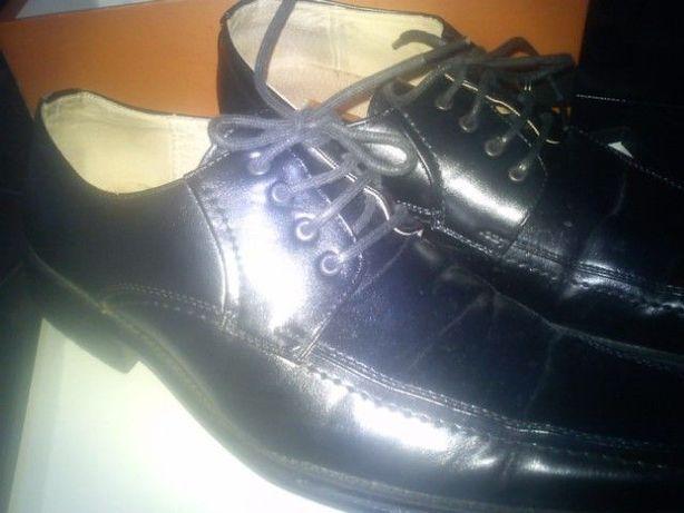 buty wyjściowe,półbuty męskie ze skóry naturalnej,Ventorini,czarne,41