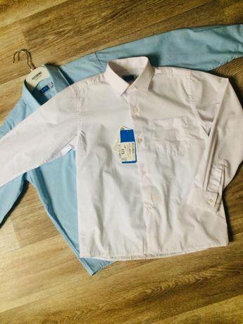Трендовая рубашка DMG, детский мир, для мальчика, школа, белая рубашка