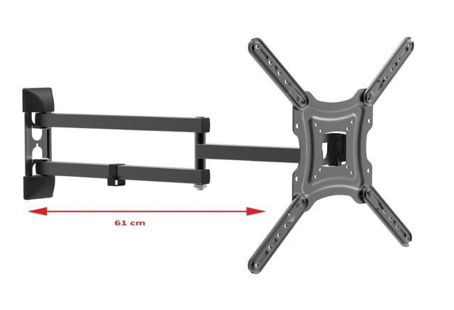 Uchwyt telewizora, wieszak TV, Długie ramię 61 cm, 20-55 cali -VX-405