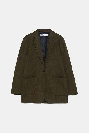 Пиджак блайзер Zara лен размер XXL