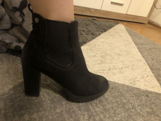 Piekne czarne botki LASOCKI r39!!!