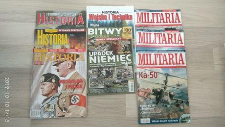 Magazyny/czasopisma historyczne, militarne, technika wojskowa, bitwy
