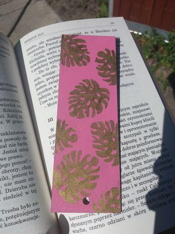 Zakładka do książki z drewna ręcznie malowana diy handmade