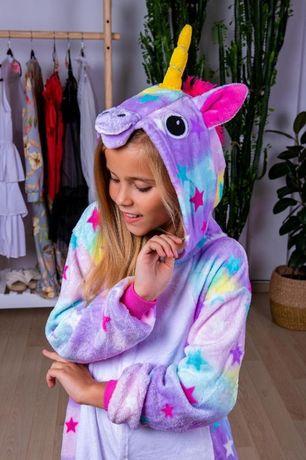 Пижама для девочек кигуруми единорог искорка, радужный, лунный, стич
