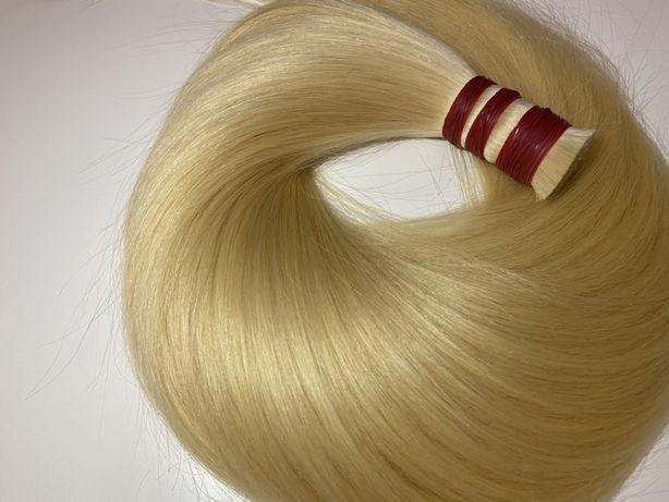 Словянские волосы для наращивания блонд