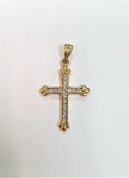Złota zawieszka krzyżyk P585 Kutno - image 1