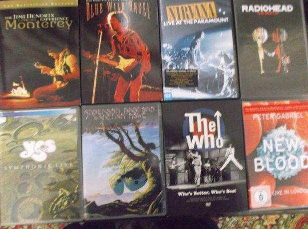 DVD Rock: Hendrix, Yes,Nirvana, The Who, P. Gabriel.