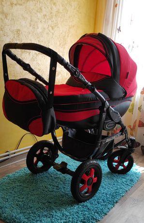 Дитячa коляска 2 в 1 Angelina Discovery червоного кольору