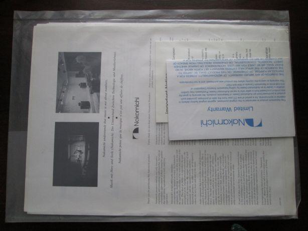 Паспорт, мануал Nakamichi DR-1/DR-2/DR-3