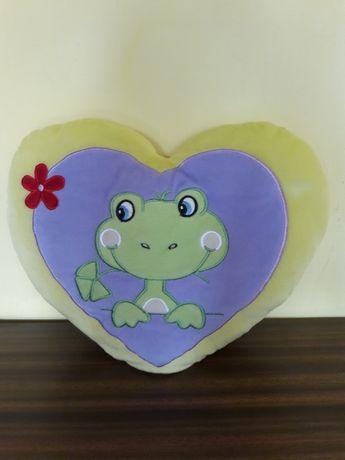 Poduszka serce z żabką