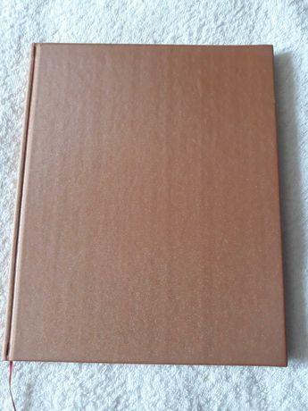 Ежедневник блокнот в твердой обложке тканевая рыжая
