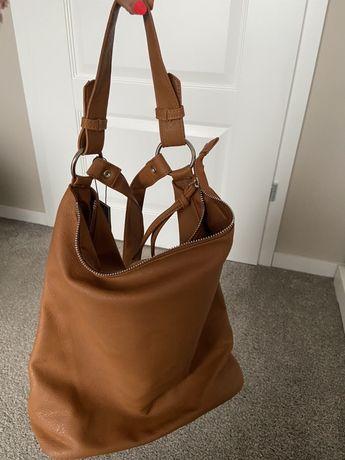Brązowy plecak Top Secret, imitacja skory, nowy