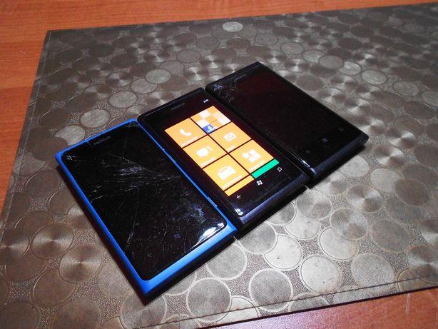 3x Nokia Lumia 800, 1 sprawna, Bez simlocka, Wysyłka darmowa!