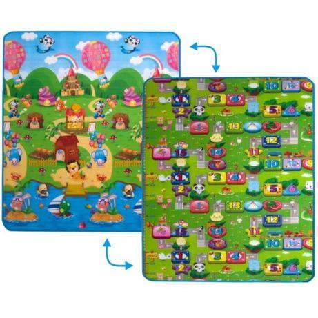 Продам детский двусторонний коврик солнечный день и цветные цифры