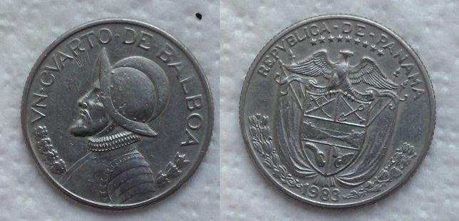 Панама. Конкистадор - 1/4 бальбао, никель, 1983г.