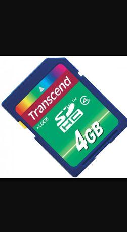 Карта памяти SDHC 4Gb Transcend