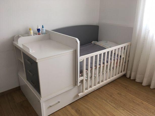 Berço / Cama criança / Cómoda (Quarto modular)