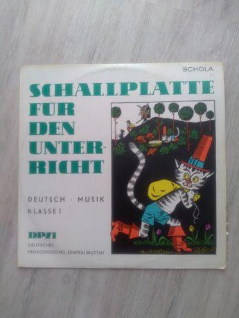 Schallplatte fur den unter - richt. Deutsch musik klasse 1. Winyl