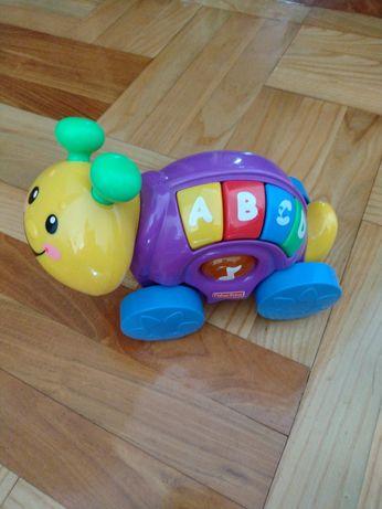Zabawka interaktywna ślimak Fisher price stan idealny