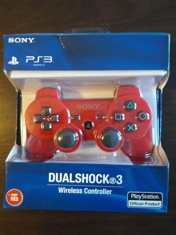 Pad kontroler do PS3 czerwony