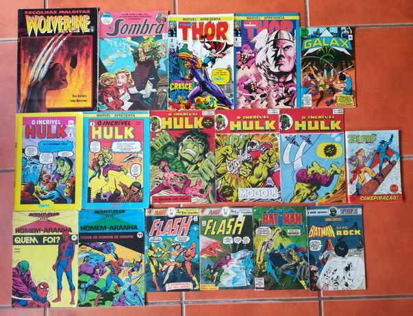 17 Livros Wolverine Thor, Hulk, Flash, Homem-Aranha, Sombra