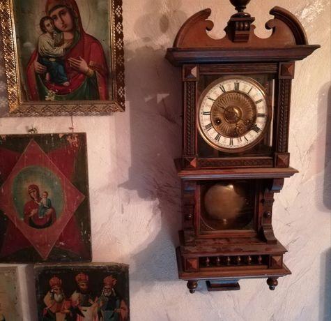 Часы настенные, 19в корпус деревянный, бой 30мин