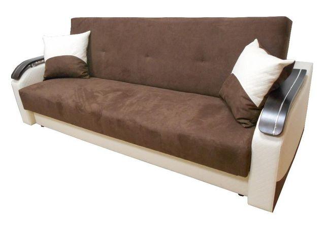 Wersalka Kanapa Sofa MILANO z drewnianymi podłokietnikami. Bonell !