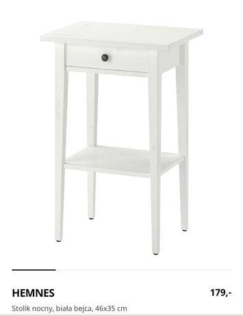 2 szt. Nowe szafki hemnes Ikea komoda szafka stolik biała bejca drewno