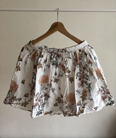 Kremowa we wzory spódniczka Zara rozmiar 34 pattern