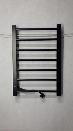 ХИТ ПРОДАЖ! Электрический полотенцесушитель с регулятором черный