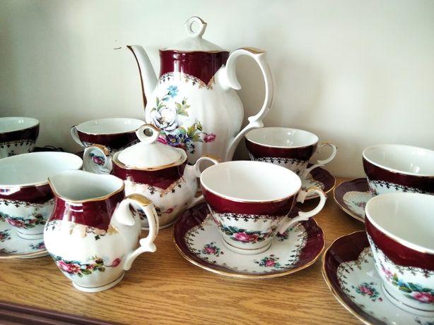 Zestaw do kawy na 12 osób porcelana Ćmielów