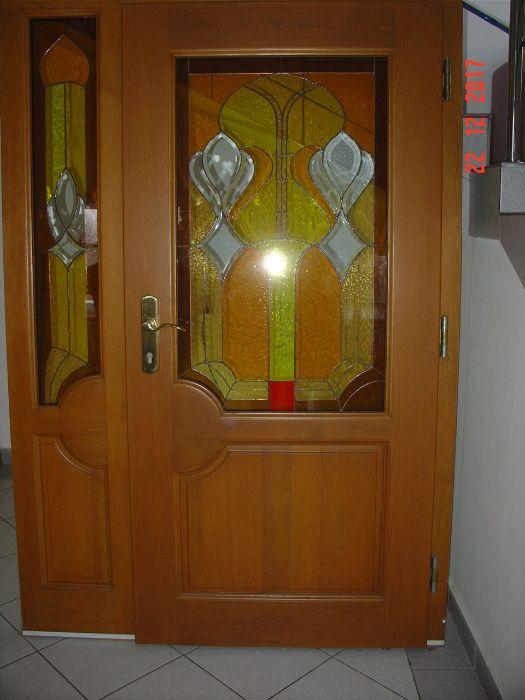 drzwi wejściowe z witrażem Nowy Sącz - image 1
