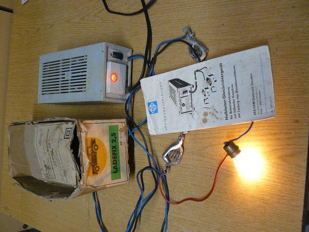 Prostownik firmy LADEFIX Made in DDR 6V 12V pudełko 2.5 amp