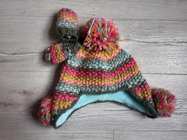 Komplet Next czapka i rękawiczki