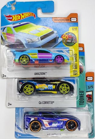 Hot Wheels Corvette C6 2017,2018, Amazoom 2017