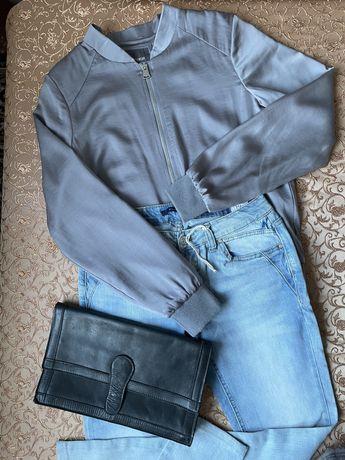 Куртка , джынсы на с  H#M и сумка кожа