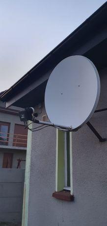 Sprzedam antenę satelitarną z konwerterem w komplecie