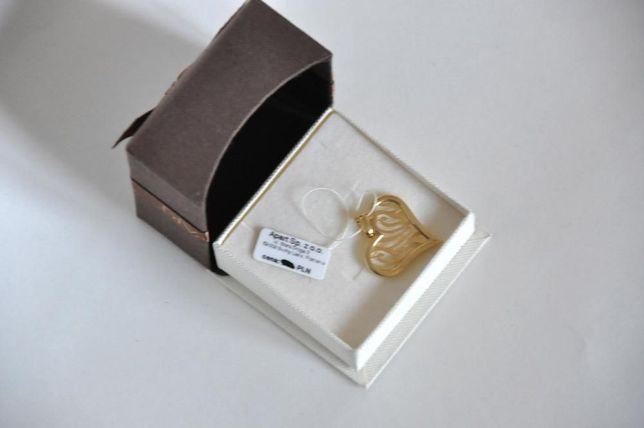 Złota zawieszka APART - złote serduszko