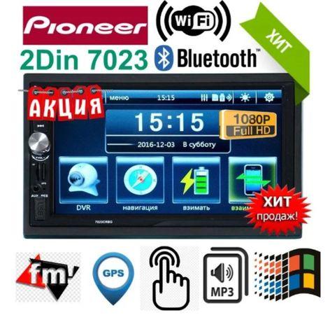 Магнитола c GPS, Pioneer 7020/7020CRBG, MP3, MP4, Bluetooth.