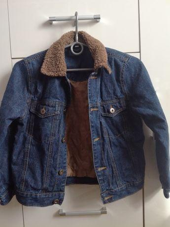 Kurtka jeans dla chłopca rozmiar 140