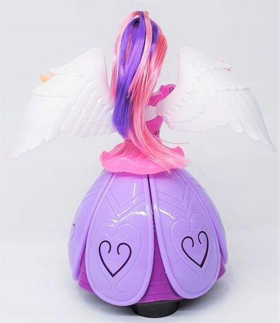 Magiczna jeżdżąca różowo włosa LALKA świecąca
